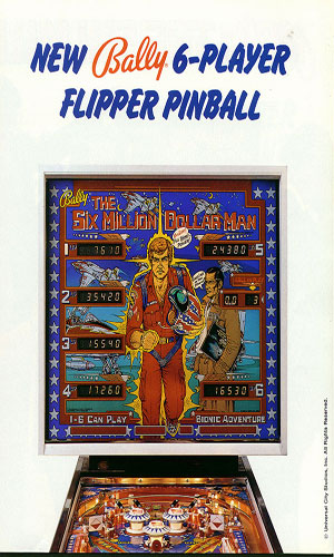The Six Million Dollar Man (Pinball)