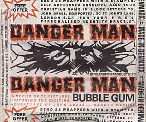 Danger Man Bubble Gum Cards